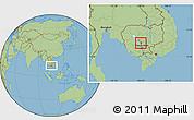 Savanna Style Location Map of Chul Kiri