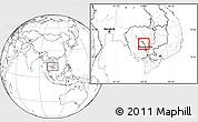 Blank Location Map of Kampong Chhnang (PT)