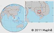 Gray Location Map of Kampong Chhnang (PT)