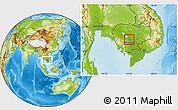 Physical Location Map of Kampong Chhnang (PT)