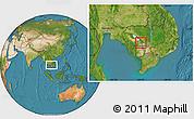 Satellite Location Map of Kampong Chhnang (PT)