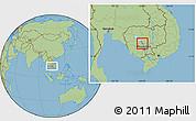 Savanna Style Location Map of Kampong Chhnang (PT)