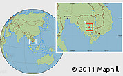 Savanna Style Location Map of Kampong Tralach