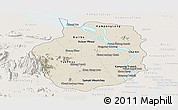 Shaded Relief Panoramic Map of Kampong Chhnang, lighten