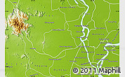 Physical Map of Samaki Meanchey