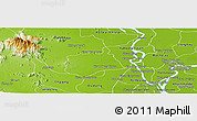 Physical Panoramic Map of Samaki Meanchey