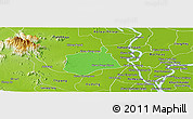 Political Panoramic Map of Samaki Meanchey, physical outside