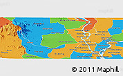 Political Panoramic Map of Samaki Meanchey