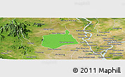 Political Panoramic Map of Samaki Meanchey, satellite outside