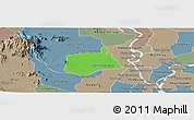 Political Panoramic Map of Samaki Meanchey, semi-desaturated