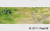 Satellite Panoramic Map of Samaki Meanchey