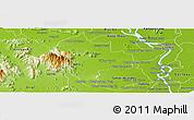 Physical Panoramic Map of Tuk Phos