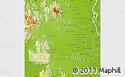 Physical Map of Kampong Speu
