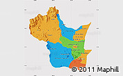 Political Map of Kampong Speu, cropped outside