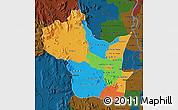 Political Map of Kampong Speu, darken