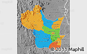Political Map of Kampong Speu, desaturated