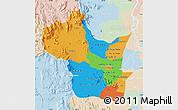 Political Map of Kampong Speu, lighten