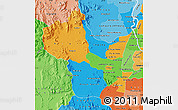 Political Map of Kampong Speu, political shades outside