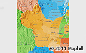 Political Shades Map of Kampong Speu