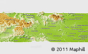 Physical Panoramic Map of Oral