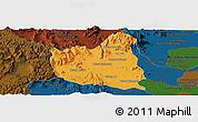 Political Panoramic Map of Oral, darken