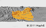 Political Panoramic Map of Oral, desaturated