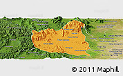 Political Panoramic Map of Oral, satellite outside