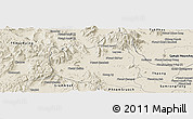 Shaded Relief Panoramic Map of Oral