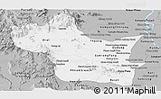 Gray Panoramic Map of Kampong Speu