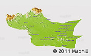Physical Panoramic Map of Kampong Speu, cropped outside