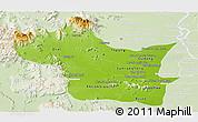Physical Panoramic Map of Kampong Speu, lighten