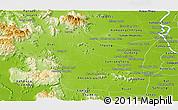 Physical Panoramic Map of Kampong Speu