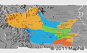 Political Panoramic Map of Kampong Speu, desaturated