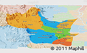 Political Panoramic Map of Kampong Speu, lighten
