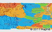 Political Panoramic Map of Kampong Speu