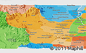 Political Shades Panoramic Map of Kampong Speu