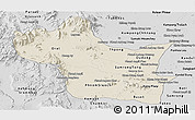 Shaded Relief Panoramic Map of Kampong Speu, desaturated