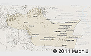 Shaded Relief Panoramic Map of Kampong Speu, lighten