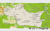 Shaded Relief Panoramic Map of Kampong Speu, physical outside