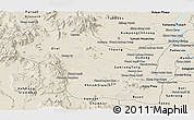 Shaded Relief Panoramic Map of Kampong Speu