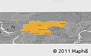 Political Panoramic Map of Baray, desaturated