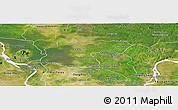 Satellite Panoramic Map of Baray