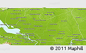 Physical Panoramic Map of Kampong Thom