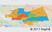 Political Panoramic Map of Kampong Thom, lighten