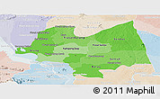 Political Shades Panoramic Map of Kampong Thom, lighten