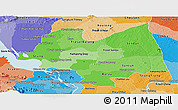 Political Shades Panoramic Map of Kampong Thom