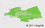 Political Shades Panoramic Map of Kampong Thom, single color outside