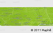 Physical Panoramic Map of Santuk