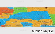 Political Panoramic Map of Santuk