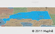 Political Panoramic Map of Santuk, semi-desaturated